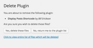 delete plugin
