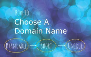 choosing domain